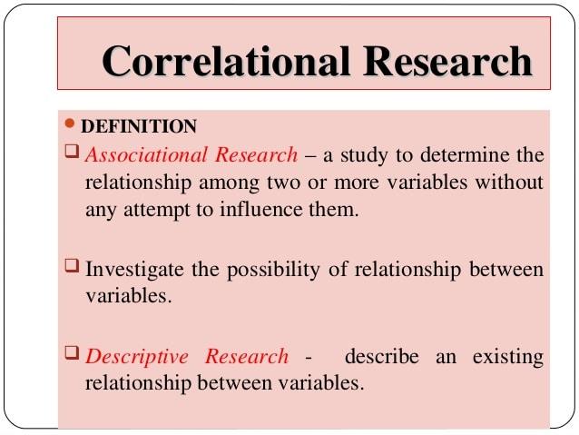 Correlational Study