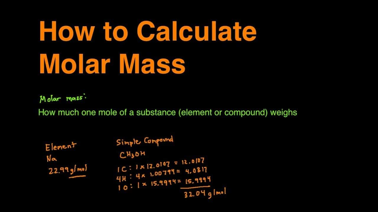 How To Find The Molar Mass